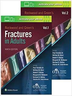 Rockwood Fractures in Adults Lippincott Williams & Wilkins 3Vol